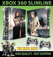 XBOX 360 SLIM CALL OF BOOTY ARMY GIRLS 01 STICKER SKIN & 2 PAD SKINS