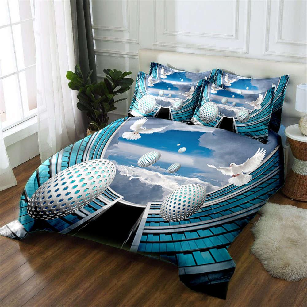 High-tech Aircraft 3D Printing Duvet Quilt Doona Covers Pillow Case Bedding Sets