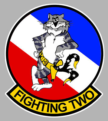 Badges, Insignes, Mascottes Collection Here Grumman Tomcat F14 Blason Vf 2 Bounty Hunters Squadron 10cm Avion Sticker Av107 Automobilia