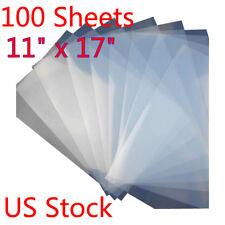 11 X 17 Waterproof Inkjet Milky Transparency Film For Silk Screen 100 Sheets