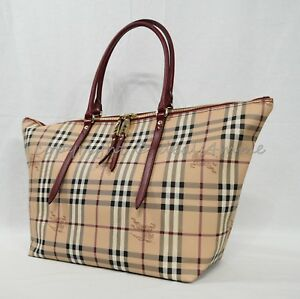 1c53b4b56634 Image is loading NWT-Burberry-Haymarket-Medium-Salisbury-Tote-in-Military-