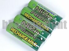 PowerGenix 900mWh 1.6V Volt AAA NiZn Nickel Zinc Rechargeable Battery x4