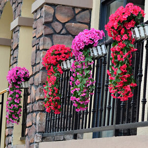 Hanging-Wall-Artificial-Silk-Violet-orchid-Flower-Rattan-Plant-Basket-Outdoor