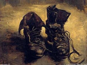 Lámina-Vincent Van Gogh Replica Antiguo Botas Zapatos (imagen Cartel Pintura