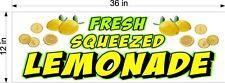 12 X 36 Vinyl Banner Fresh Squeezed Lemonade Lemons Drink