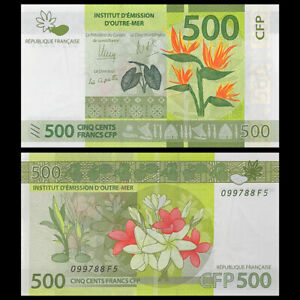 French Pacific Territories 500 Francs, ND(2014), P-5, Banknotes, UNC