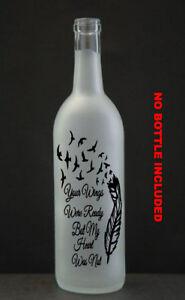 Customised Wine Bottle Vinyl Sticker Personalised memory decal Gift Stickers