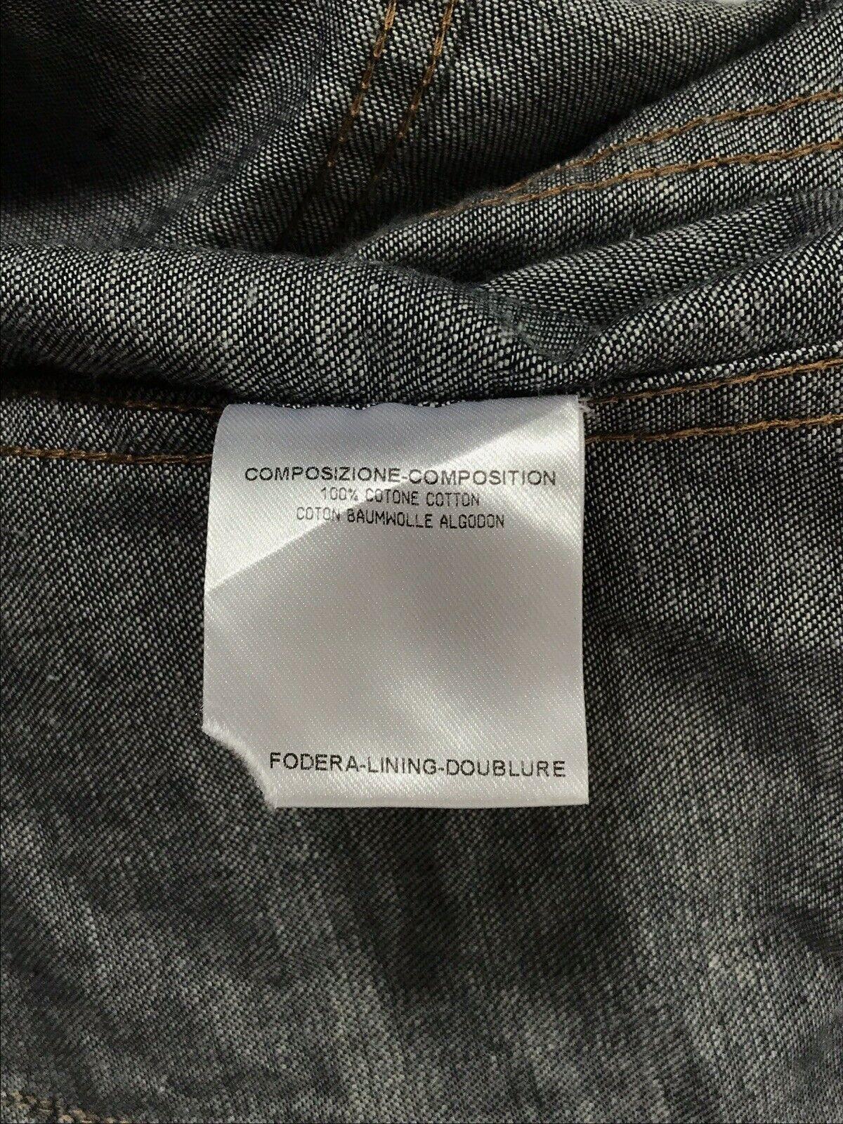 Rare Vtg Gucci Blue GG Monogram Denim Jacket S - image 10