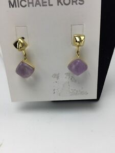 Michael-Kors-Adjustable-Stud-or-Drop-Amethyst-Crystal-Gold-tone-Earrings-29