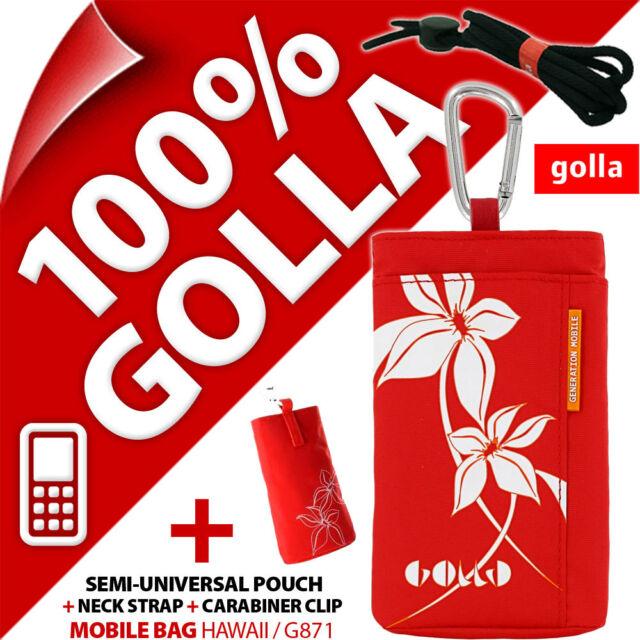 Golla Rot Handy Tasche Schutzhülle beutel tasche für/passt Nokia 6303 102 106