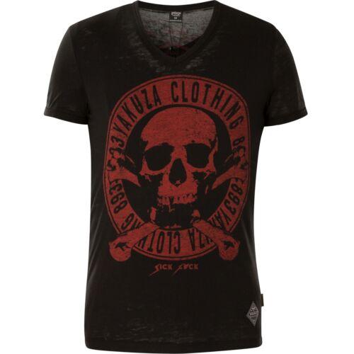 Yakusa T-shirt épuisement professionnel Daily Jolly tsb-13037 Black Noir T-shirts