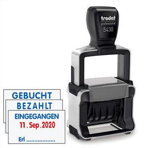 TRODAT-Datumstempel-Professional-5430L-Bezahlt-Gebucht-Eingegangen-Stempel-WoW