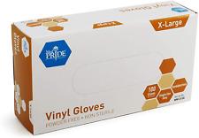 Medpride Vinyl Gloves 43 Mil Thick Powder Free Non Sterile Heavy Duty Dispo