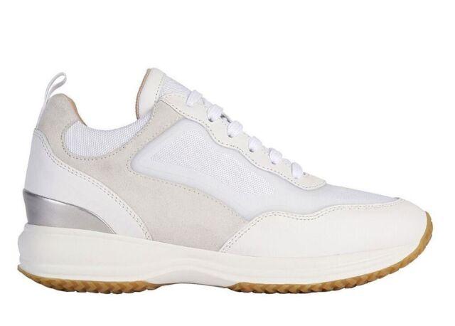 Geox HAPPY D0262A 08514 C1352 Bianco Sneakers Scarpe Donna Calzature Casual