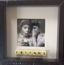 BLACK FRAME FRIENDS PHOTO SCRABBLE TILE PICTURE SIMPLY STUNNING