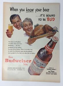 Original-Print-Ad-1953-BUDWEISER-Beer-When-You-Know-Your-Thanksgiving