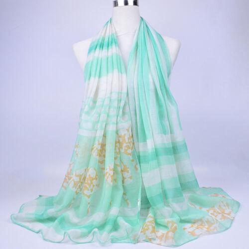 Women/'s Fashion Scarf Pashmina Soft Cotton Silk Wraps Beach Shawl Long Stole Lot