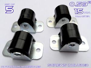 Lot de 5 en plastique rigide ROUES ROULETTES FIXE 15 mm armoire tiroirs-meubles-afficher le titre d`origine 6X9A8NmK-07191310-336698824