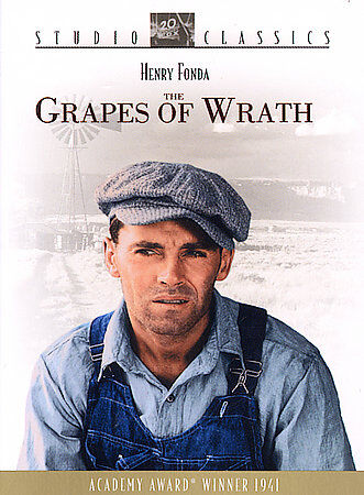 The Grapes of Wrath Henry Fonda, Jane Darwell, Region 1 ----1940