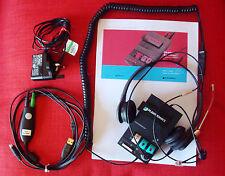 Plantronics MX10 Universal Amplifier + PROTELEX Dual Headset +InSync Buddy USB3G
