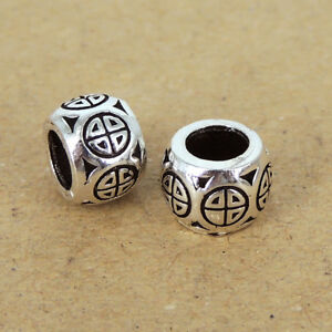 2pcs Handmade Genuine 925 Sterling Silver Charm Bead For DIY Jewelry Making