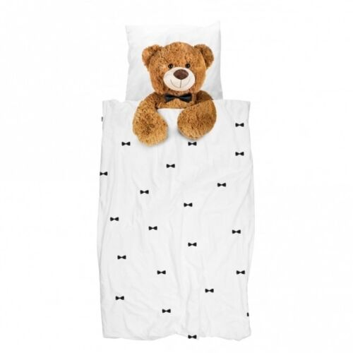 Snurk Teddy Single Duvet Cover /& Pillowcase 160 Thread Count 100/% Cotton
