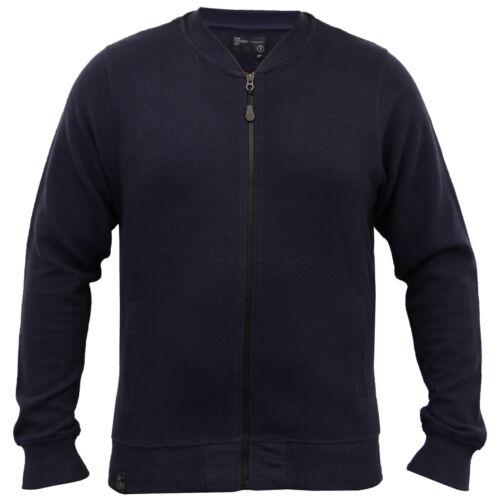 Mens MA1 Sweatshirt Dissident Baseball Style Ribbed Zip Top Casual Winter New