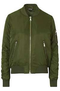 New Uk 10 Khaki Jacket Tall Ma1 Bomber Brand Topshop 0H80wd
