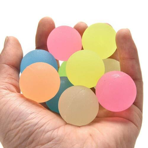 10Pcs Party Favor Luminous Moonlight High Bounce Orb Glow in the Dark Kids Gift