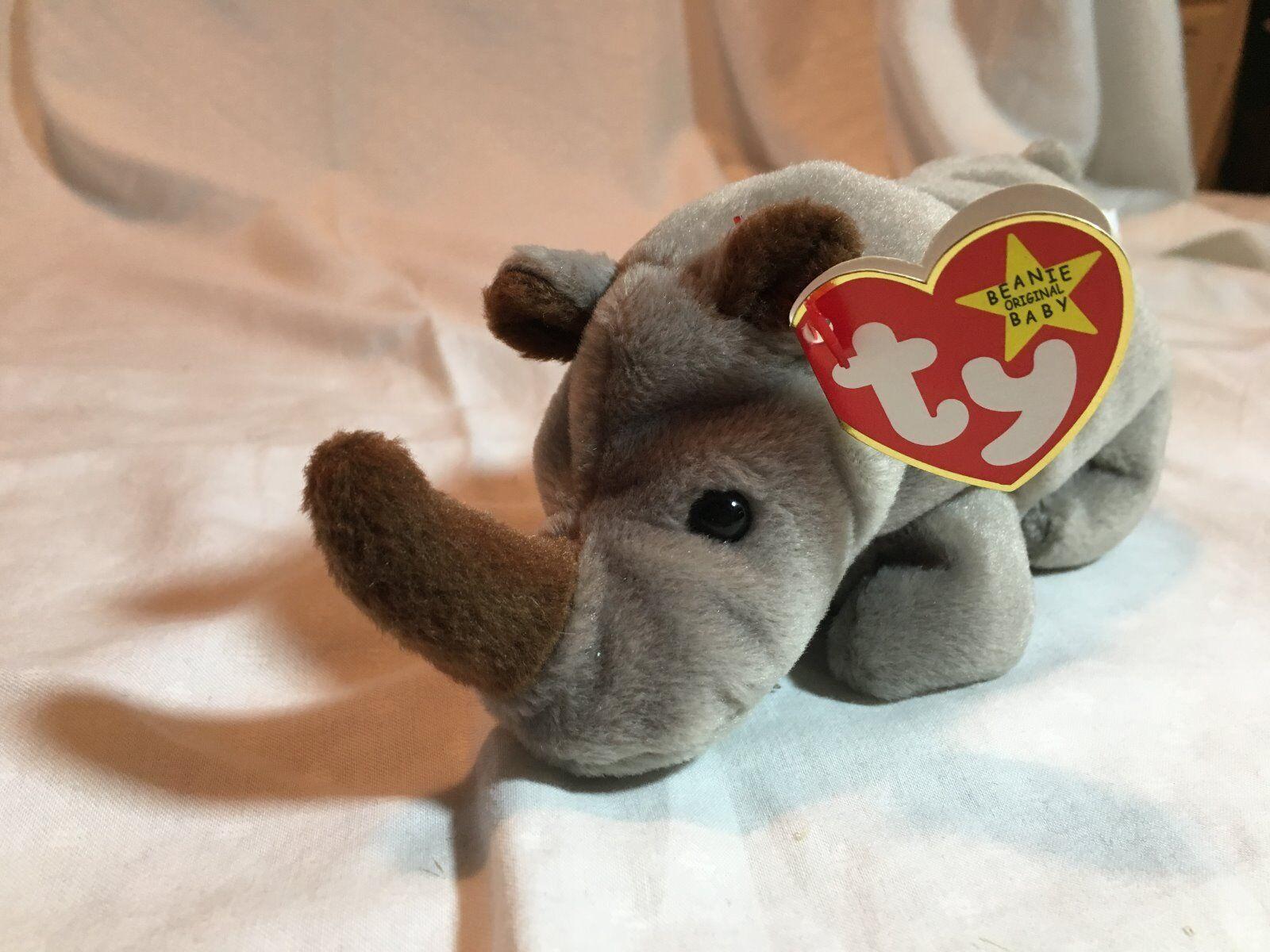 TY Beanie Baby  SPIKE  (TAG ERRORS) - MWMTs  RETIRED  RARE