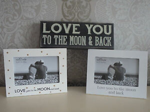 Love You To The Moon And Back Box Frame Photo Frame Black White Sta
