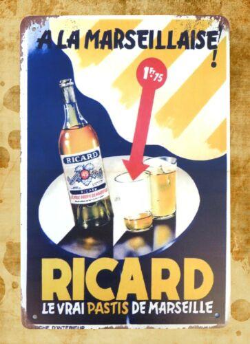 US Seller Ricard pastis French liqueur bar pub metal sign creative wall decor