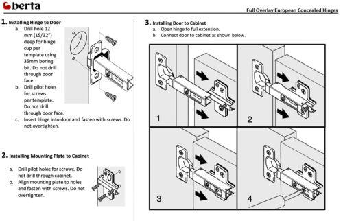 Pack of 30 Pcs Full Overlay Soft Close Hydraulic Kitchen Cabinet Hinge