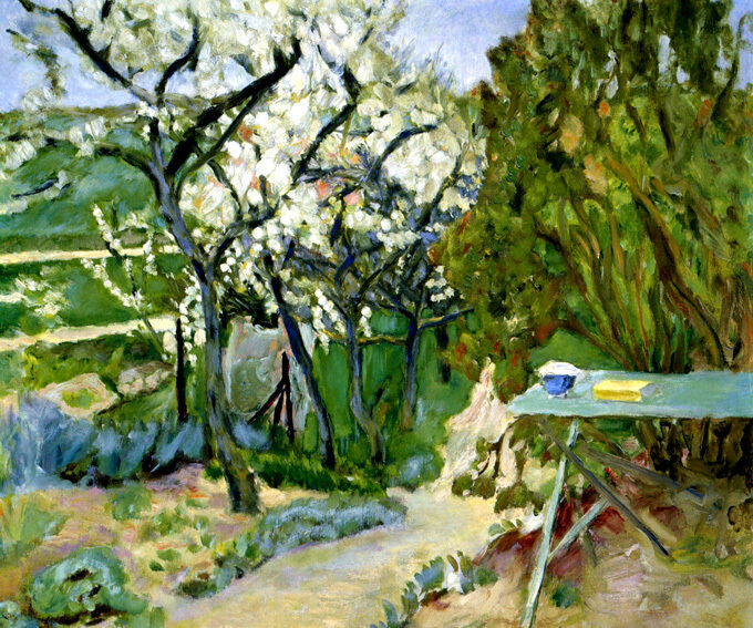 THE Grün TABLE GARDEN IMPRESSIONIST FRENCH PAINTING BY PIERRE BONNARD REPRO