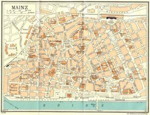 Germany Mainz 1931 Old Vintage Map Plan Chart Ebay