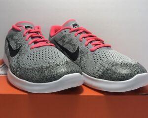 Nike Grade School Girls Size 7 Free RN 2017 Grey Pink Running ... 62dfa989c885