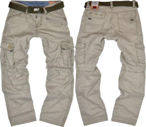 TIMEZONE Uomo Cargo Pant Benito Dirty Sabbia Beige Cargo Pant jeans Outdoor