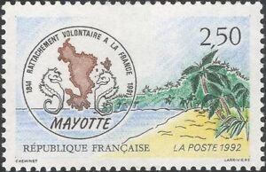France-1992-Mayotte-Overseas-Departments-Politics-People-Map-Trees-1v-n45934