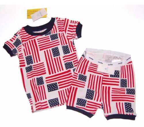 NWT BABY GAP Patriotic 2 pc FLAG Shorty PAJAMAS Unisex Boy or Girl Size 2 yrs