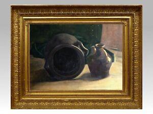 Ambitieux Francois Forichon (1865-1952) H/p Belle Nature Morte A La Cruche Fin Xix° (7) Une Performance SupéRieure