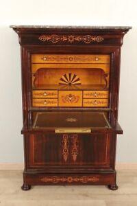 Secretaire-Charles-X-marqueterie-palissandre-erable-cabinet