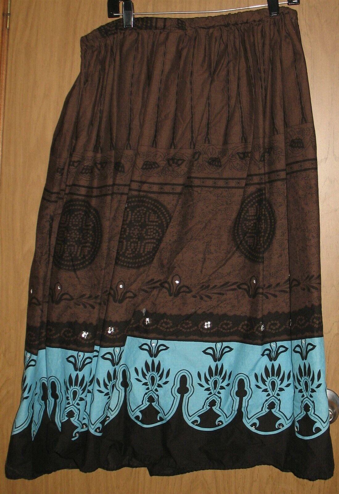Womens 18/20 Venezia Brown/Black/Turquoise Full F… - image 4