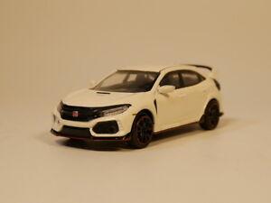 TSM-MODEL-1-64-MINI-GT-HONDA-CIVIC-TYPE-R-White-diecast-model-car