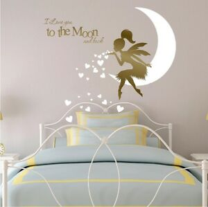 I Love You to the Moon and Back Wall stickers for Children\'s Fairy ...