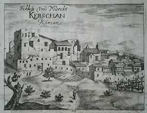 1689-Valvasor-view-KRSAN-ISTRIA-CROATIA