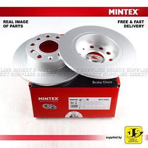 2X-Mintex-frenos-de-disco-trasero-Para-AUDI-A3-Seat-Skoda-Octavia-Yeti-VW-Original