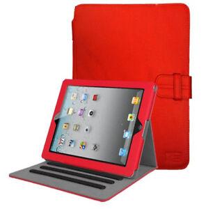 size 40 da0e3 a3ba3 Details about Case Logic Lightweight Leather Folio Case for iPad 4, iPad 3,  iPad 2 (Red/Black)
