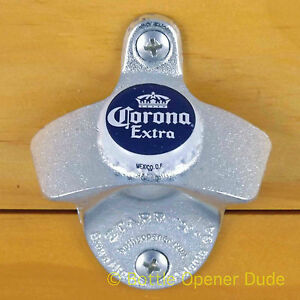 Silver Metal Starr X Wall Mount Bottle Stationary Opener with Screws NEW