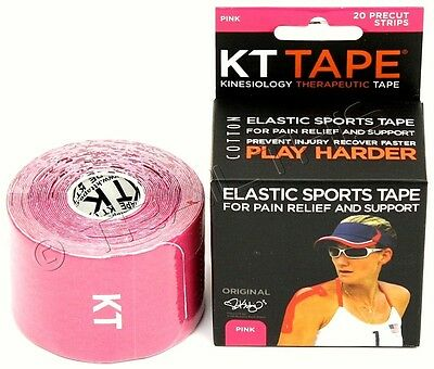KT Tape Kinesiology Therapeutic Body Tape Roll of 20 Strips Beige