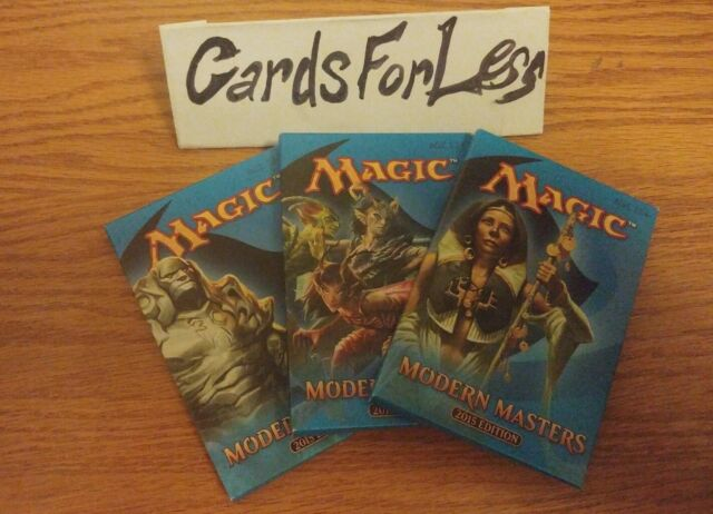 mtg x3 modern masters 2015 booster pack  magic the